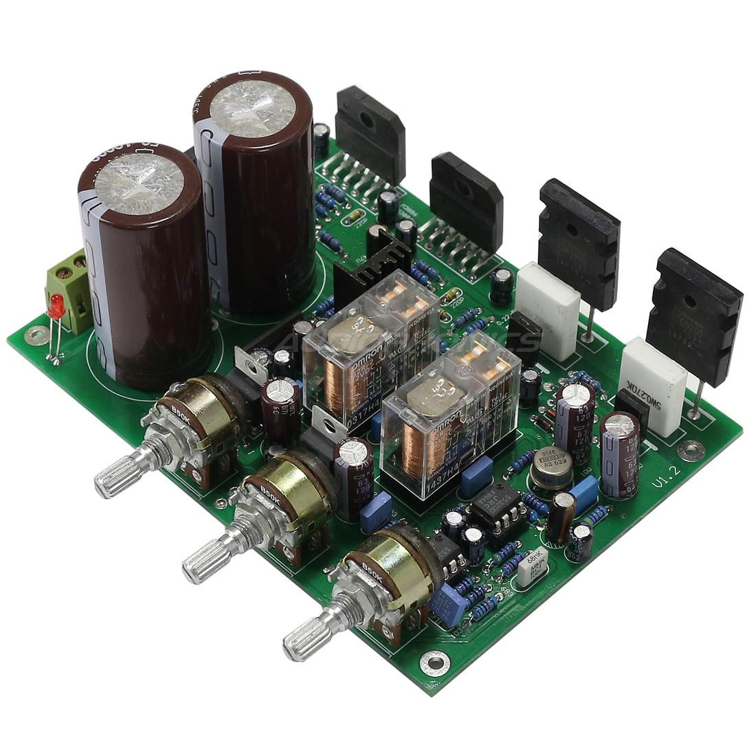 LM3886 / 2SA1943 Amplificateur 2.1 2x50W Stéréo 8 Ohm Ampli Subwoofer 1x150W 8Ohm
