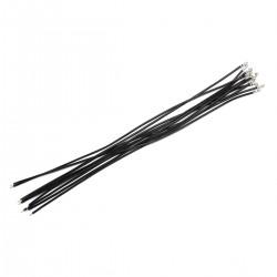 Câble XH 2.54mm Femelle vers Fil Nu Sans Boîtier 1 Pôle 20cm Noir (x10)