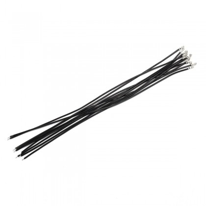 Interconnect Cable for XHP to Bare Wire 2.54mm 1 Pin 20cm Black (x10)