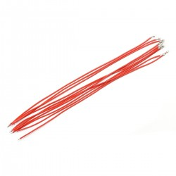 Interconnect Cable for XH to Bare Wire 2.54mm 1 Pin 20cm Red (x10)