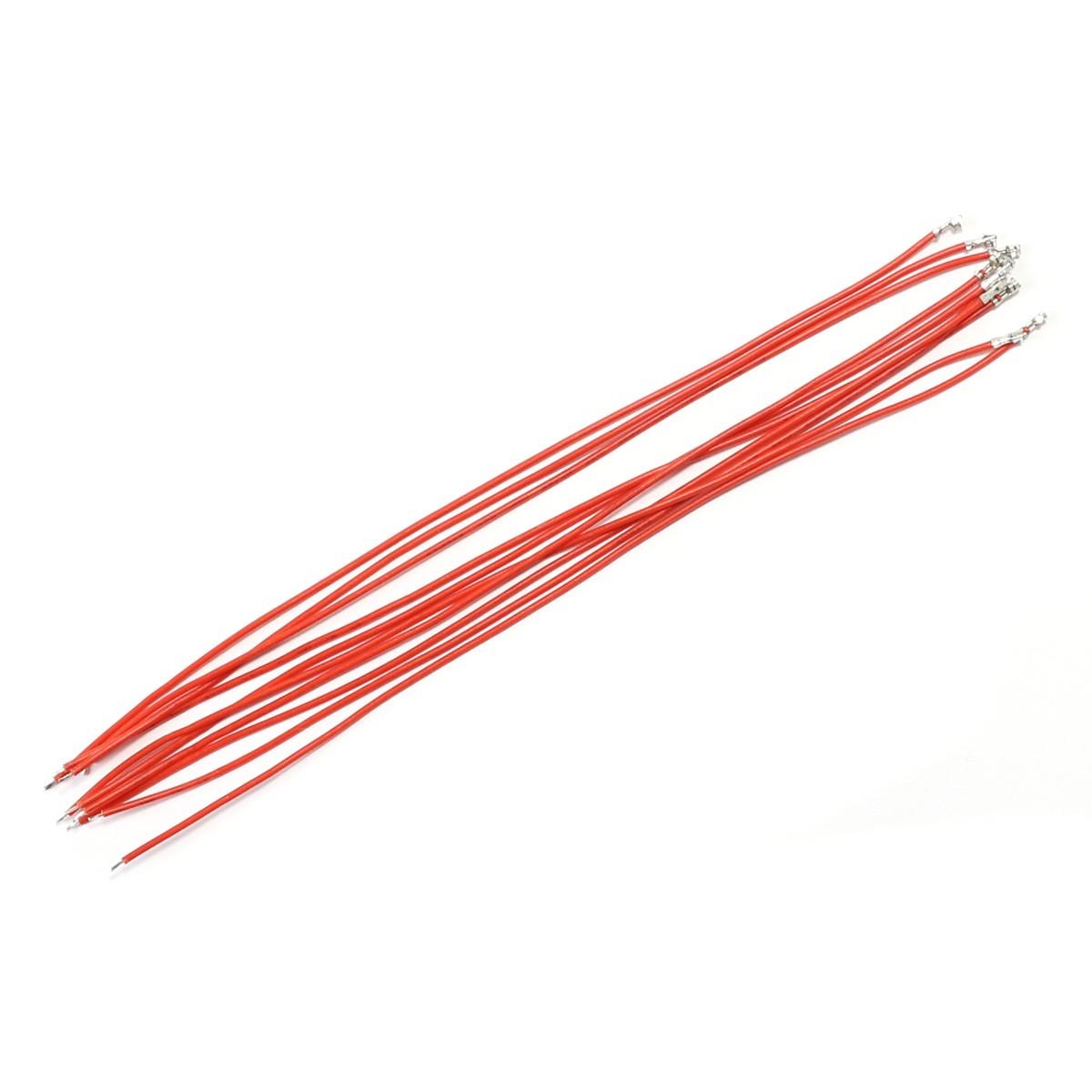 Câble d'Interconnexion pour XH vers Fil Nu 2.54mm 1 Pin 20cm Rouge (x10)