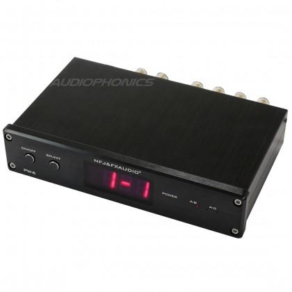 FX-AUDIO PW-6 Commutateur sélecteur audio pour enceinte / amplificateur Noir