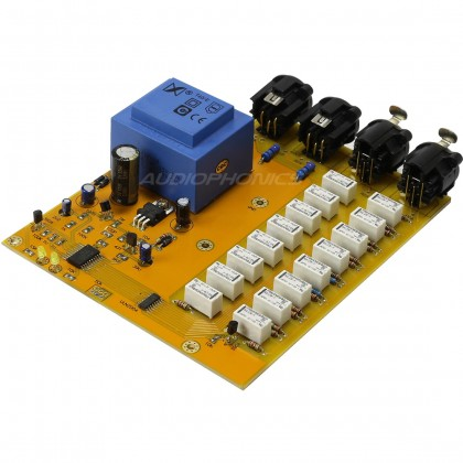 Passive XLR balanced passive volume controller with 256-level relay controller