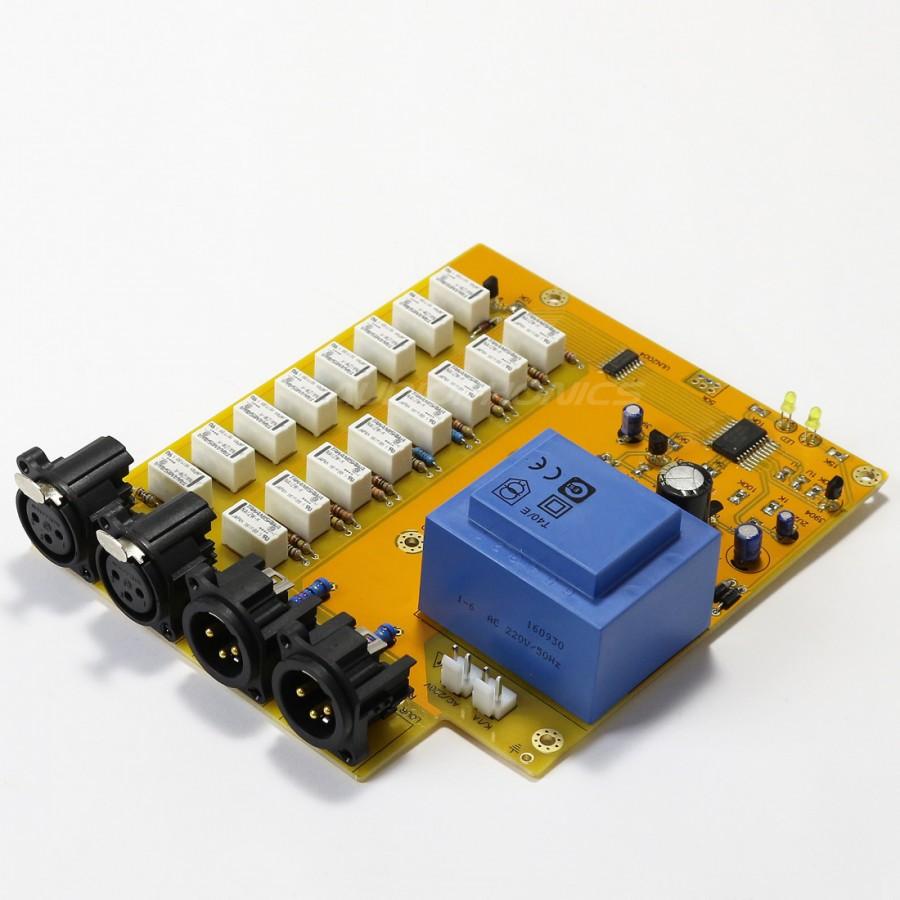 contr leur de volume passif xlr sym trique relais 256 niveaux audiophonics. Black Bedroom Furniture Sets. Home Design Ideas