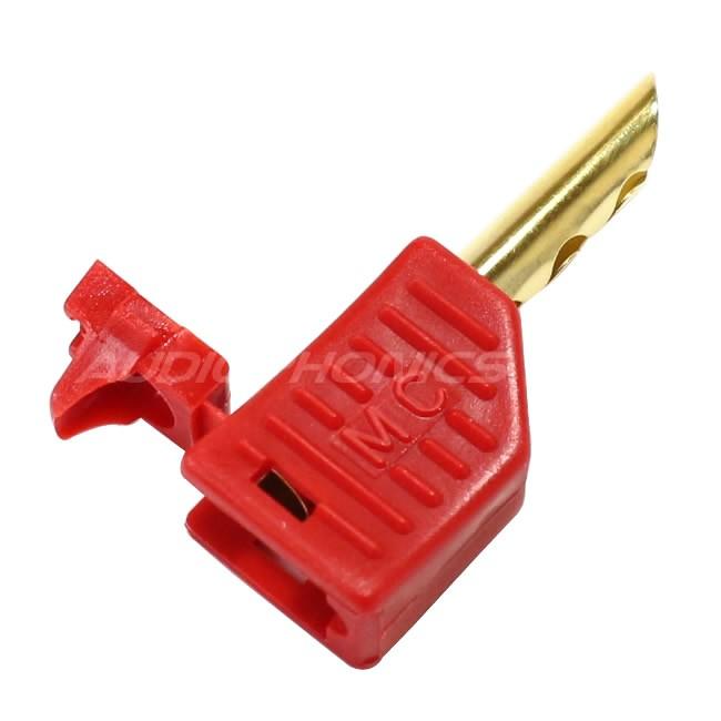 MUNDORF Banana Plug Beryllium Copper Red Ø4mm (Unité)