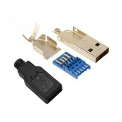 Connecteur USB 3.0 mâle Type A Plaqué or DIY