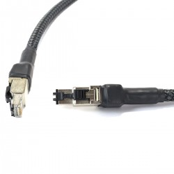AUDIOPHONICS Câble patch Réseau RJ45 Ethernet High-End Cat 7 1m