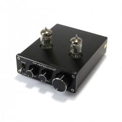 FX-AUDIO TUBE-03 Préamplificateur à Tubes 6K4 Stéréo Noir