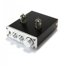 FX-AUDIO TUBE-03 Préamplificateur à Tubes 6K4 Stéréo Argent