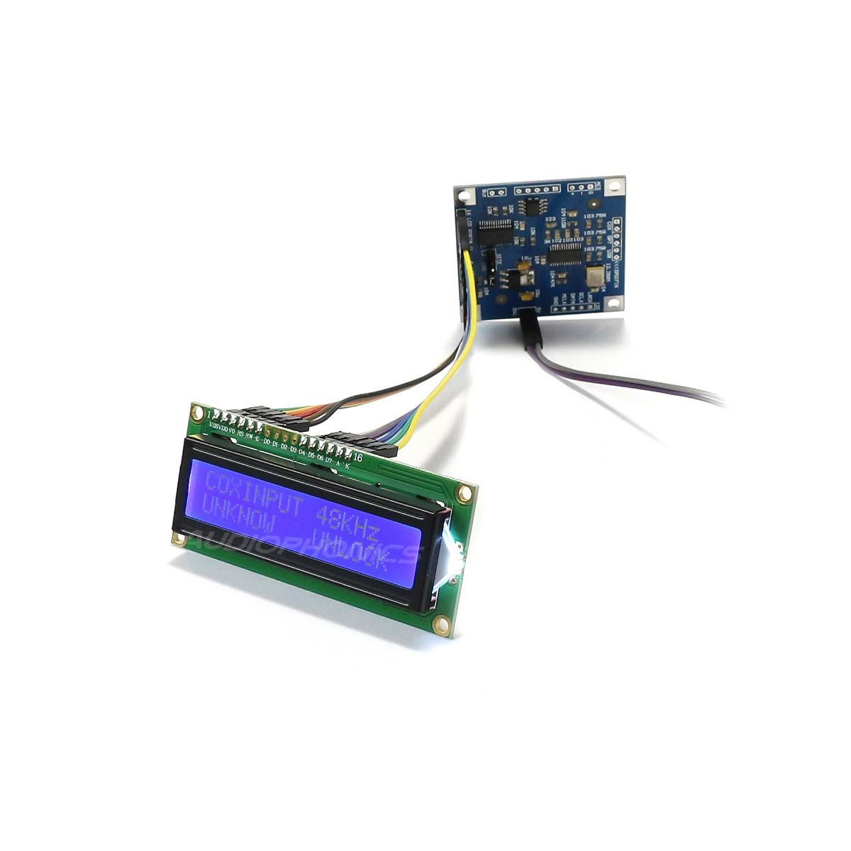 Module Sélecteur de Source CS8416 4 Entrées SPDIF vers 1 Sortie I2S avec Écran LCD