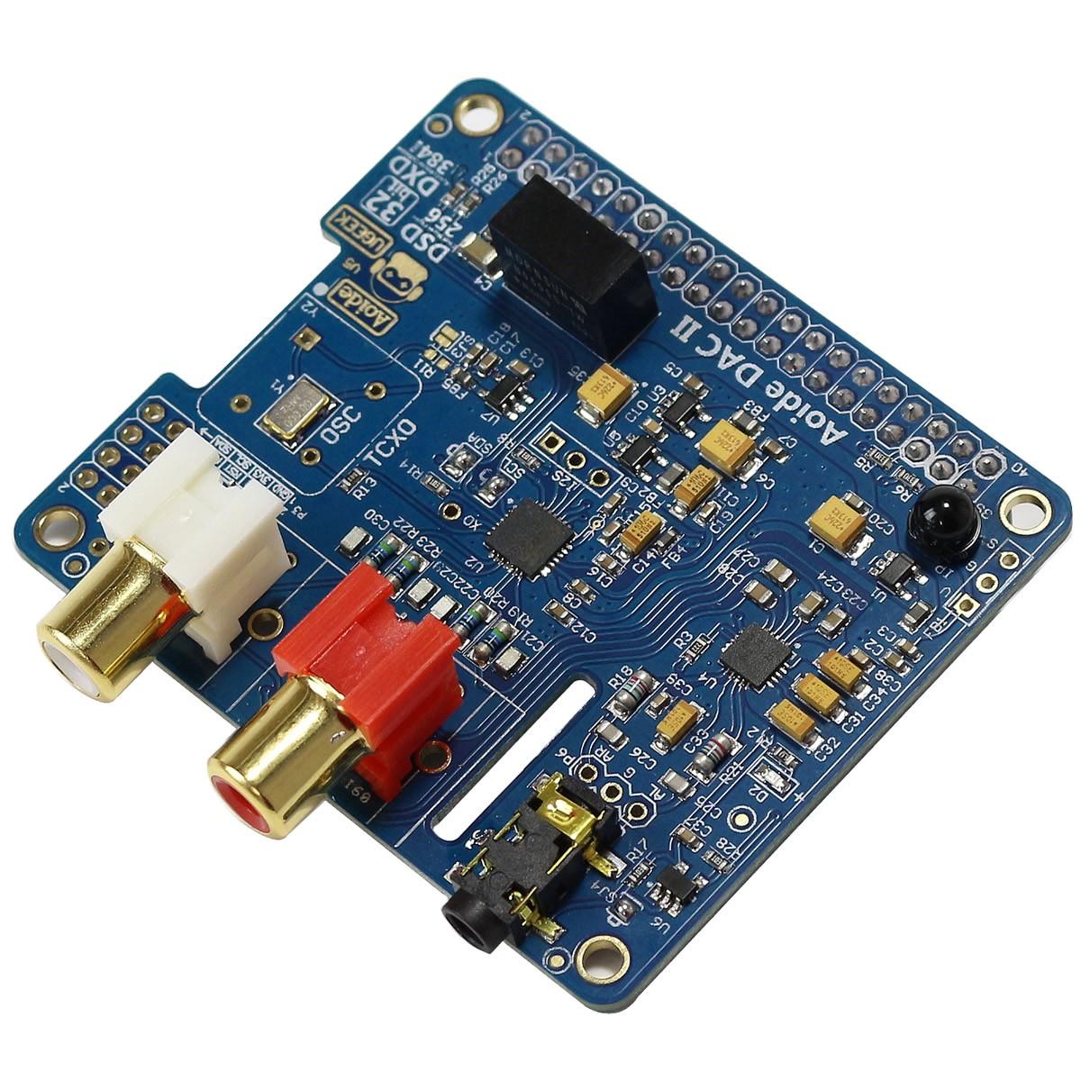 AOIDE DAC II ESS ES9018K2M Module DAC I2S 32bit 384khz DSD Raspberry Pi 3 / A+ B+ / Pi 2 / I2S