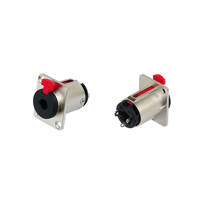 Stereo Jack 6.35mm Socket with Locking System