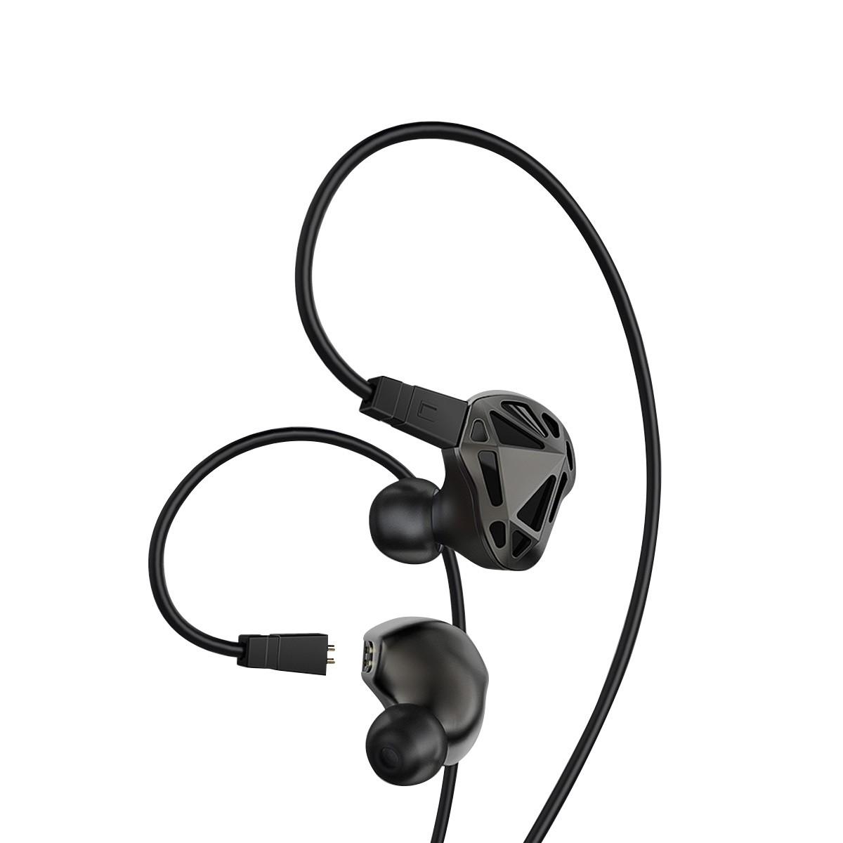 AG RT-1 Ecouteurs Intra-Auriculaire IEM Dual Driver 32 Ohm Noir