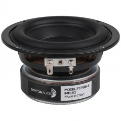 DAYTON AUDIO TCP115-4 Speaker Driver Midbass Paper 40W 4 Ohm 87dB 55Hz - 5000Hz Ø10cm