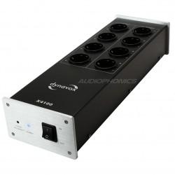 DYNAVOX X4100 Filtre secteur 8 ports Schuko Argent