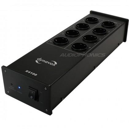 Dynavox X4000 Filtre secteur 8 ports Schuko Noir