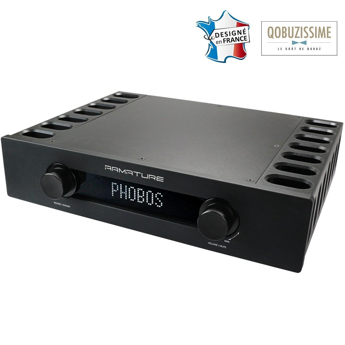 ARMATURE PHOBOS Amplificateur Intégré AB 2x300W / 4 Ohm DAC USB Pre-out
