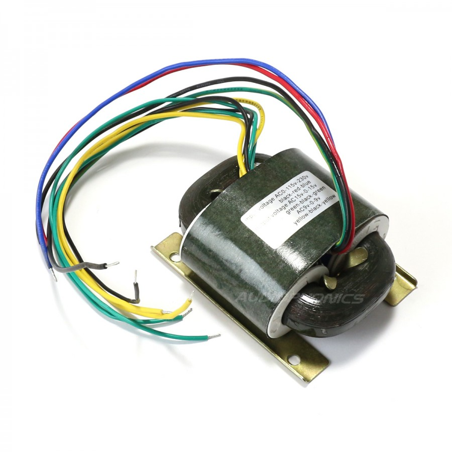 R Core Transformer 30va 15 0 15v 9 9v Audiophonics Power Supply 9vdc No