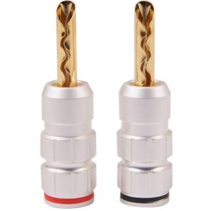 Audiophonics BA-501 Fiches Bananes BFA à lamelles (x2) Ø 5.0mm