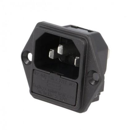 SCHURTER IEC + fuse holder 5x20mm