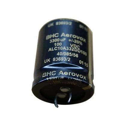 Condensateur BHC Aerovox Electrolytique Audio 100V 3300µf