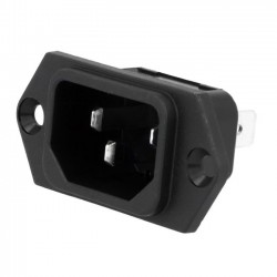 SCHURTER IEC socket for soldering boxes