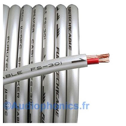 FURUTECH FS-301 Câble HP Cuivre OFC (Alpha) 2x2.0mm² Ø7.5mm