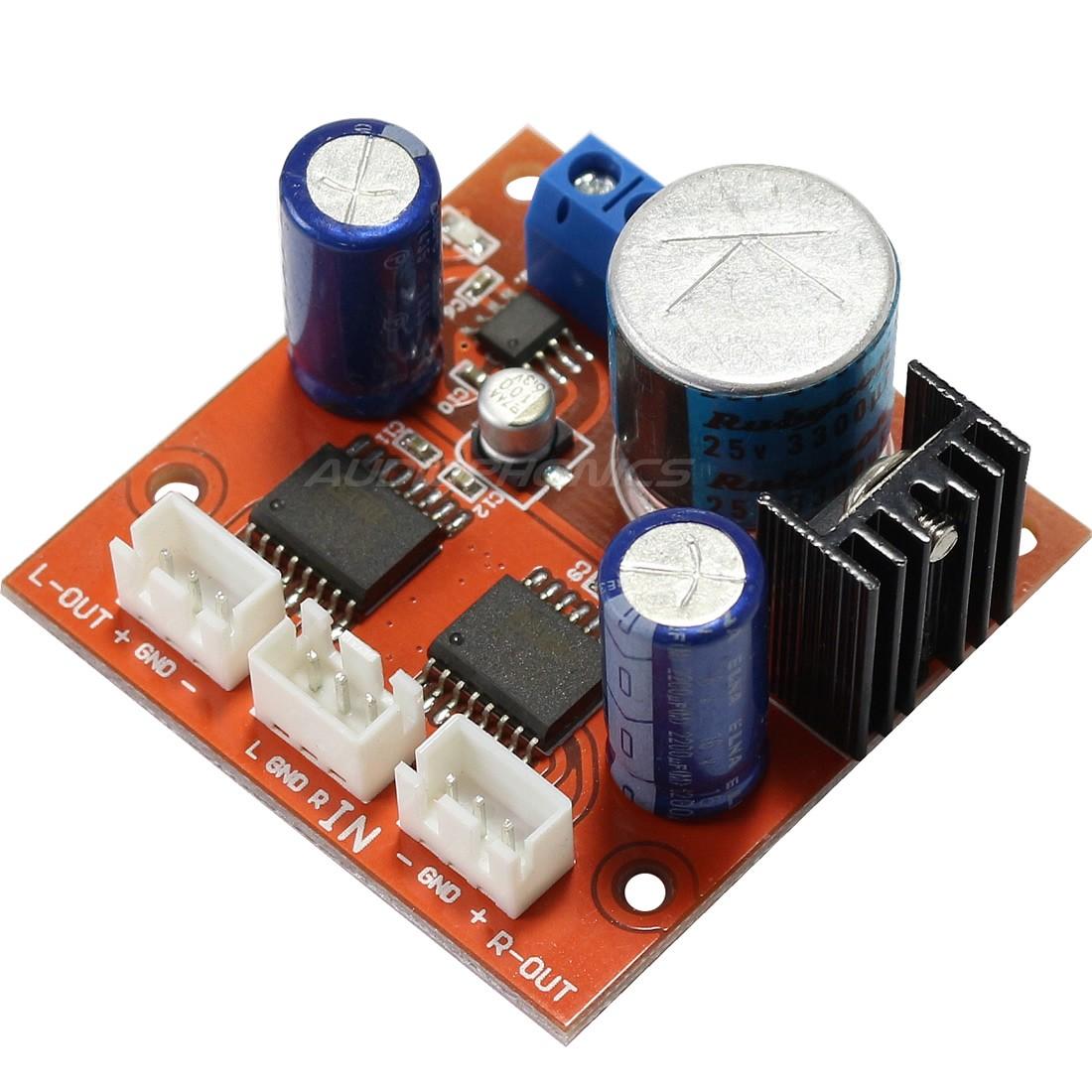Module Kit unbalanced to balanced symetrizer DRV134 stereo