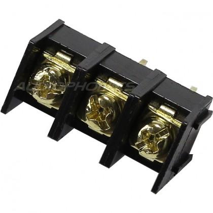 Bornier à vis pour PCB 3 pôles plaqué or