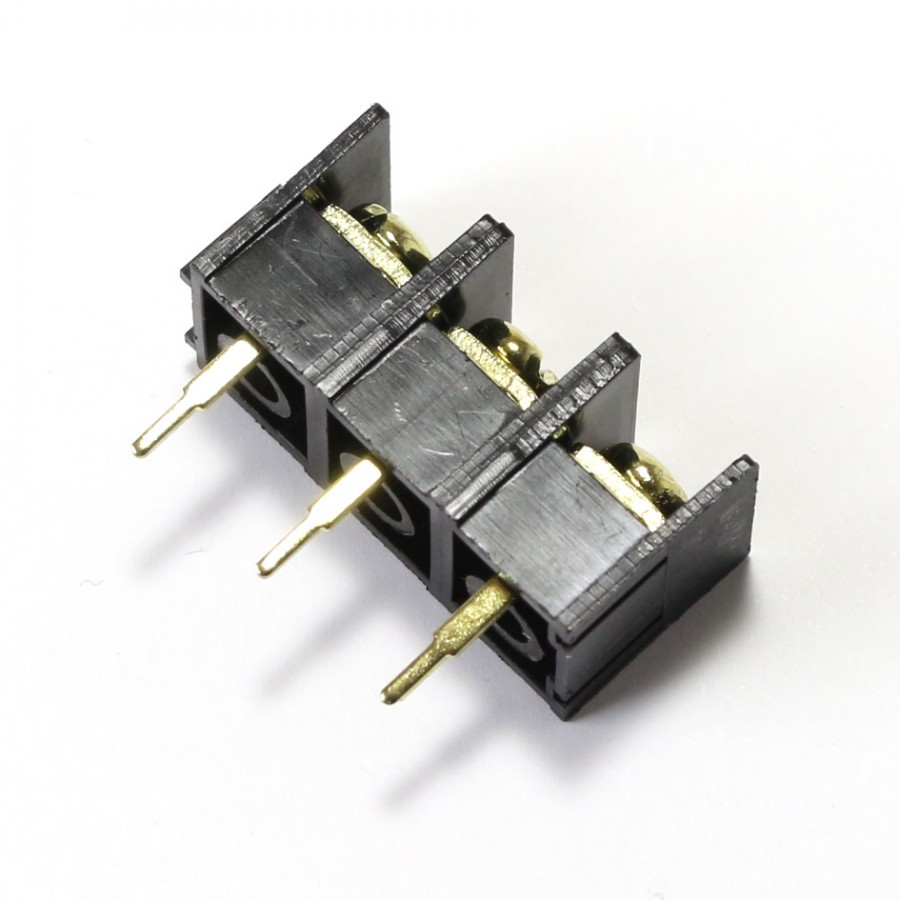 PCB / Circuit board terminals 3 poles gold plated - Audiophonics