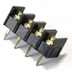 Bornier à vis pour PCB 4 pôles plaqué or