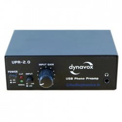 DYNAVOX Phono Preamplifier UPR 2.0 USB Vinyl recording (MM)