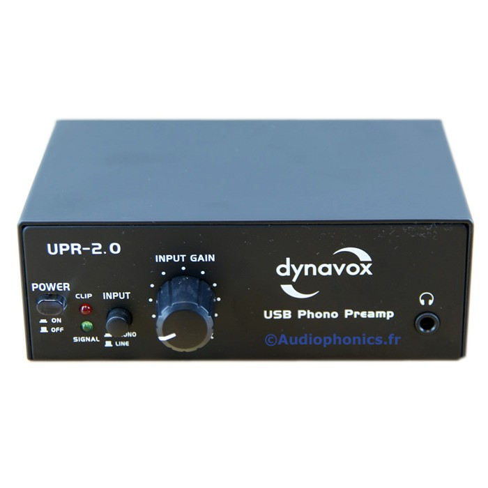 DYNAVOX Préamplificateur Phono UPR 2.0 USB Numérisation vinyle (MM)