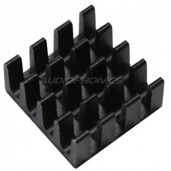 Heat Sink Radiator Black Anodized 14x14x2mm
