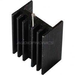 Radiateur Dissipateur Thermique Anodisé pour TO-220 20x15x10mm Noir