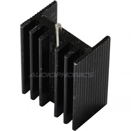 Radiator Heat sink Anodized anodized for CPLD DSP 20x15x10mm Black