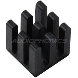 Heat Sink Radiator Black Anodized 10x10x10mm