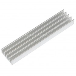 Heat Sink Radiator Silver Anodized 50x11x5mm