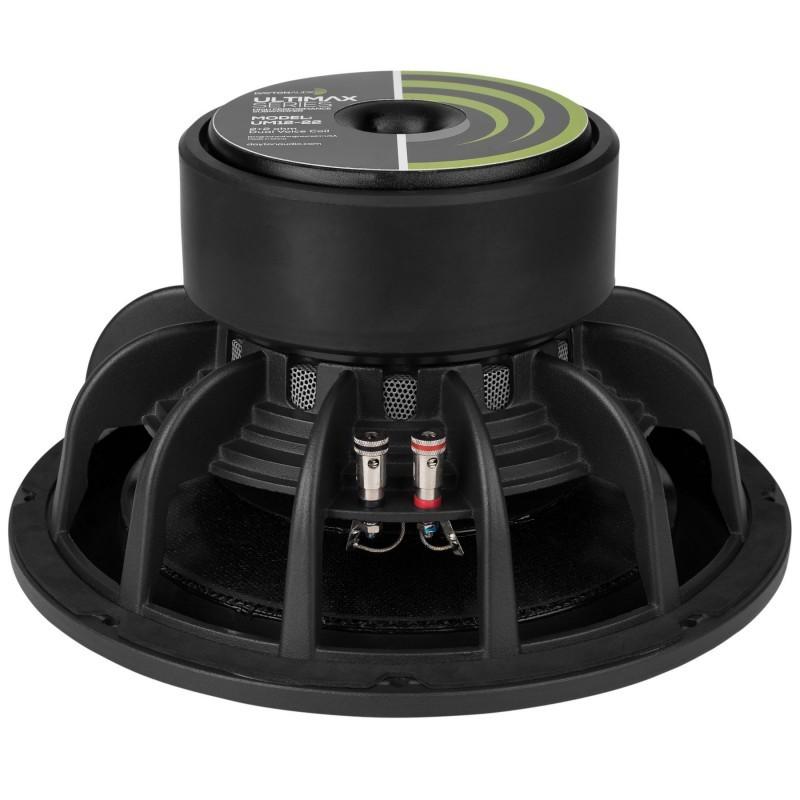 DAYTON AUDIO UM12-22 Ultimax DVC Speaker Driver Subwoofer 600W 2x2 Ohm 87dB 20Hz - 1000Hz Ø30cm