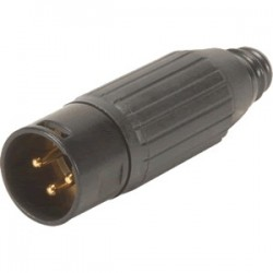 SWITCHCRAFT AAA3MPBAUZ Gold Plated 3 Way Male XLR Connector Ø6mm (Unit)