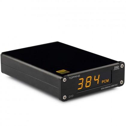 TOPPING D10 DAC USB 32bit/384kHz DSD 128 XMOS ES9018K2M