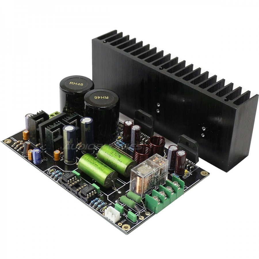 Lm3886 Stereo Audiophile Amplifier Board 2x68w 4 Ohm Audiophonics Circuit Pcb Solder Resist Varnish Green Oil