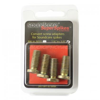 """SOUNDCARE ADAPTER Adaptateur 1/4"""" vers 3/8"""" pour Pointes SuperSpikes 1/4"""" (Set de 4)"""