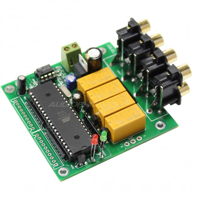 With Relay and LED Input Selector DIY Kit for Audio