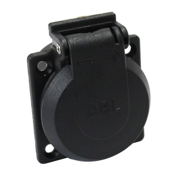 ABL SURSUM Power inlet with sutter 250V 16A IP54 Black