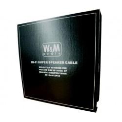 WM-AUDIO LS-02 Câbles d'Enceintes Fourche SCC 2.5m (La Paire)