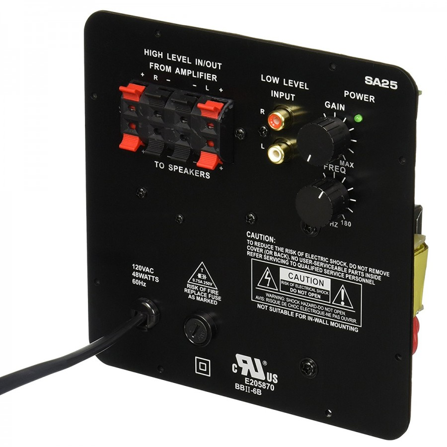 Dayton Audio Sa25 Plate Subwoofer Module Amplifier 15w 8 Ohm Stereo Wiring Diagram Additionally Speaker