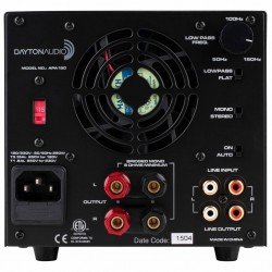 DAYTON AUDIO Class A/B Amplifier 2x70 watts 4 Ohm Black