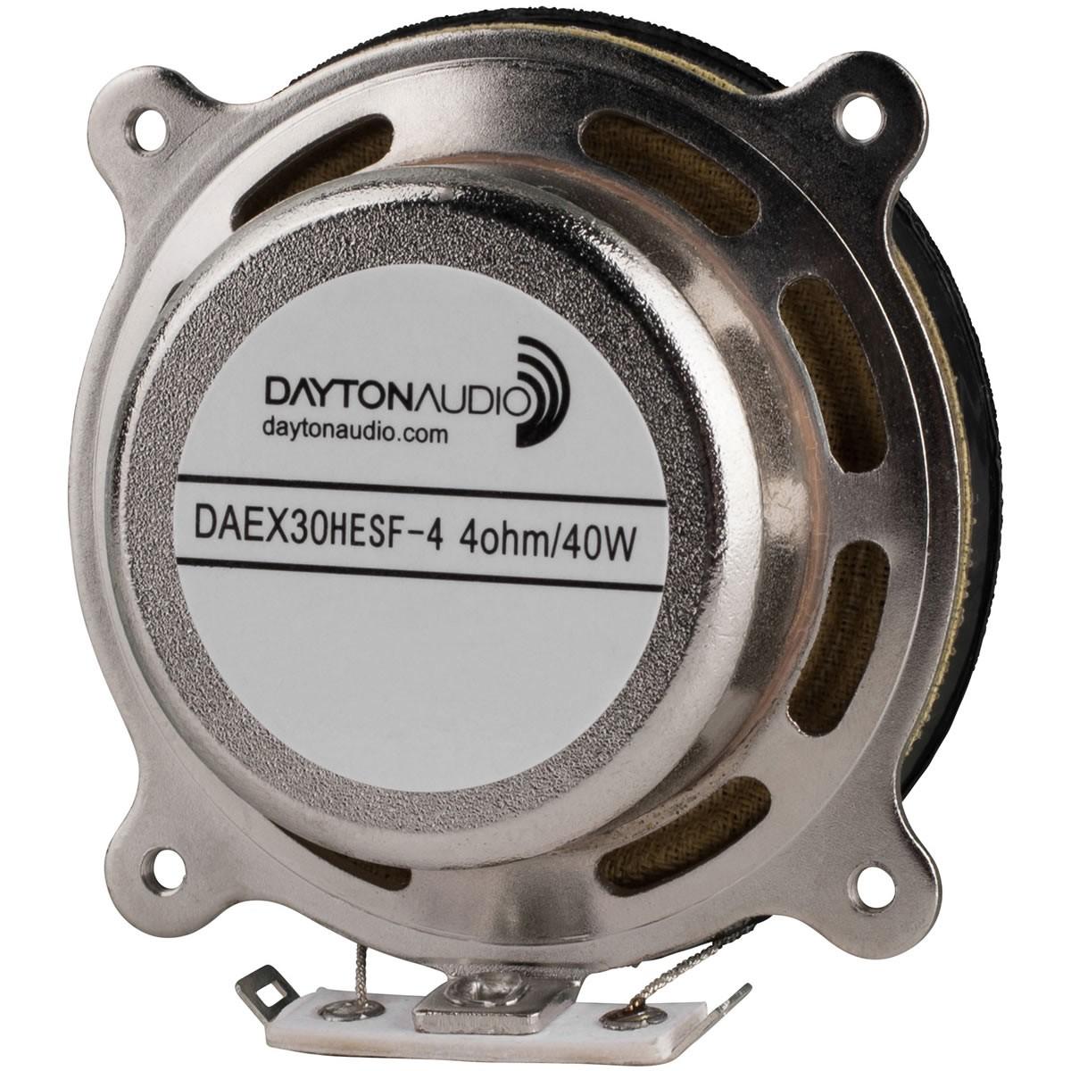 DAYTON AUDIO DAEX30HESF-4 Haut-Parleur Vibreur Exciter Blindé 40W 4 Ohm Ø3cm
