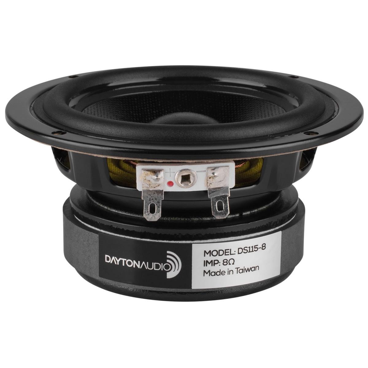 DAYTON AUDIO DS115-8 Designer Series Speaker Driver Midbass 35W 8 Ohm 85dB 60Hz - 8000Hz Ø10cm